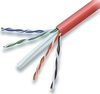 23 AWG Solid 550 MHz CMR Rated Red Enhanced Cat 6e Cable 1000 ft Box