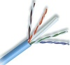 23 AWG Solid 550 MHz CMP Plenum Rated Blue Cat 6e Cable 1000ft Box