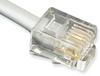 ICC ICLC407FSV 6P4C Pin 2-5 Pre-Terminated Telephone Cable 7 foot