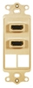ICC IC107DDHIV Ivory Dual HDMI Decora Insert with 2 Blank Ports