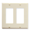 ICC Cabling Products IC107DFDAL Almond 2 Gang Decora Faceplate