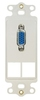 ICC IC107DR2WH White VGA Decora Insert with 2 Blank Ports