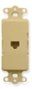 ICC IC630DI6IV Ivory Decora Insert with Integrated RJ11 Voice Jack