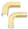 "ICC ICRW13EBIV 1 3/4"" Ivory Raceway Flat 90 Degree Elbow & Base 10 Pack"