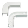 "ICC ICRW33EBWH 1 1/4"" White Raceway Flat 90 Degree Elbow and Base"