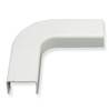"ICC Cabling Products ICRW44FEWH 1 3/4"" White Raceway Flat Elbow"