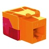 ICC IC1078L6OR EZ Cat 6 Modular Keystone Jack Orange
