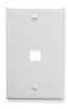 ICC IC107F01WH White Single Gang 1 Port Keystone Wall Plate