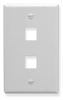 ICC IC107F02WH White Single Gang 2 Port Keystone Wall Plate